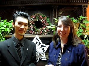 Yusuke Fitzgibbons, PhD '13, (left) with supervisor Professor Joan Bartlett. Integrating information behavior and information literacy during academic writing tasks: A comparative study of Japanese and Canadian undergraduate students in Canada.