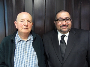 Nasser Saleh, PhD '13 (right) with supervisor Professor Andrew Large. Collaborative information behaviour in learning tasks: A study of engineering students.