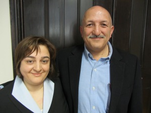 Nahid Tabatabaei, PhD '13, (left) with supervisor Professor Jamshid Beheshti. Contribution of information science to other disciplines as reflected in citation contexts of highly cited JASIST papers.