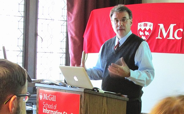 Jay Liebowitz at the McGill School of Information Studies