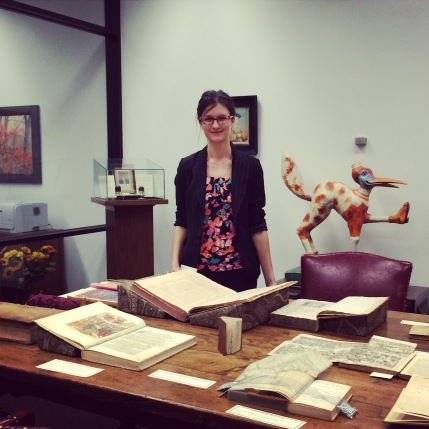 Evelina Stulgaityte, MLIS'14, in her new role as Assistant Archivist for the Tarlton Law Library at the University of Texas School of Law in Austin.