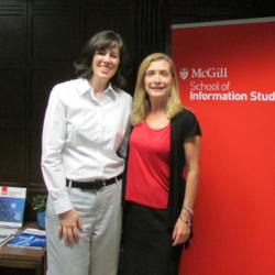 Rhiannon Gainor, PhD '14, (left) with supervisor Professor France Bouthillier.