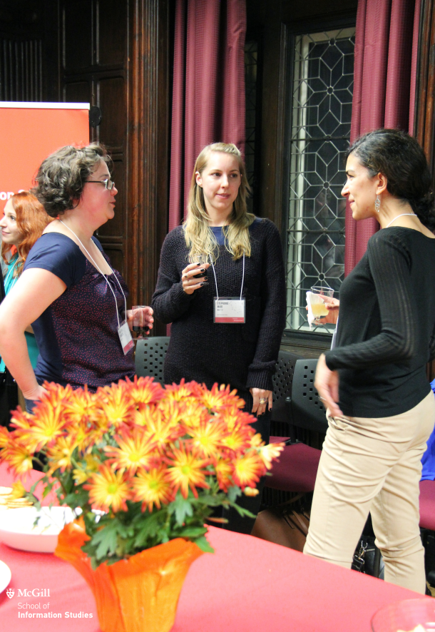 Marie-Eve Barrette MLIS'12 (left); Stephanie Mair, MLIS'12 (centre); Nathalie De Preux, MLIS'14 (right).