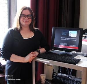 2014 MLIS Practicum Showcase, McGill School of Information Studies (SIS). Photo: McGill SIS www.mcgill.ca/sis