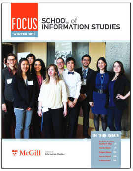 McGill University School of Information Studies Newsletter, Winter 2015, Cover