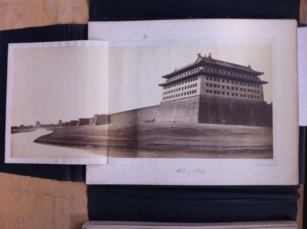"""Walls of Pekin"", from the China-India-Persia portfolio in a collection of 19th-century photographs. Rare Books and Special Collections, McGill University Library and Archives. Photo credit: Felice Beato"