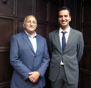 Dhary Abuhimed, PhD'15, (right) with supervisor Prof. Jamshid Beheshti.