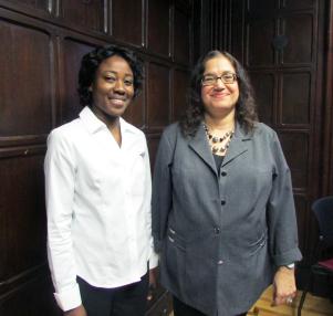Irene Kitimbo, PhD'16, (left) with supervisor Prof. Kimiz Dalkir.